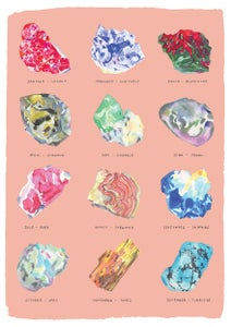 Image of Birthstone Rocks - Fine Art Giclee Print PINK