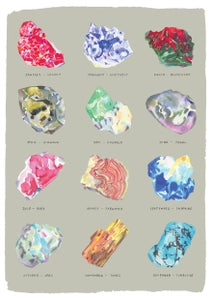 Image of Birthstone Rocks - Fine Art Giclee Print GREEN/GREY