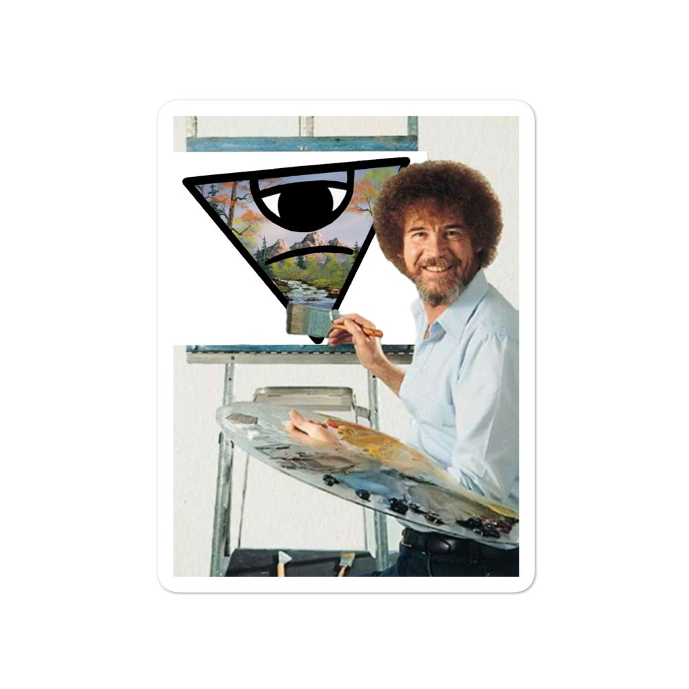 Image of Bob Ross Stickers
