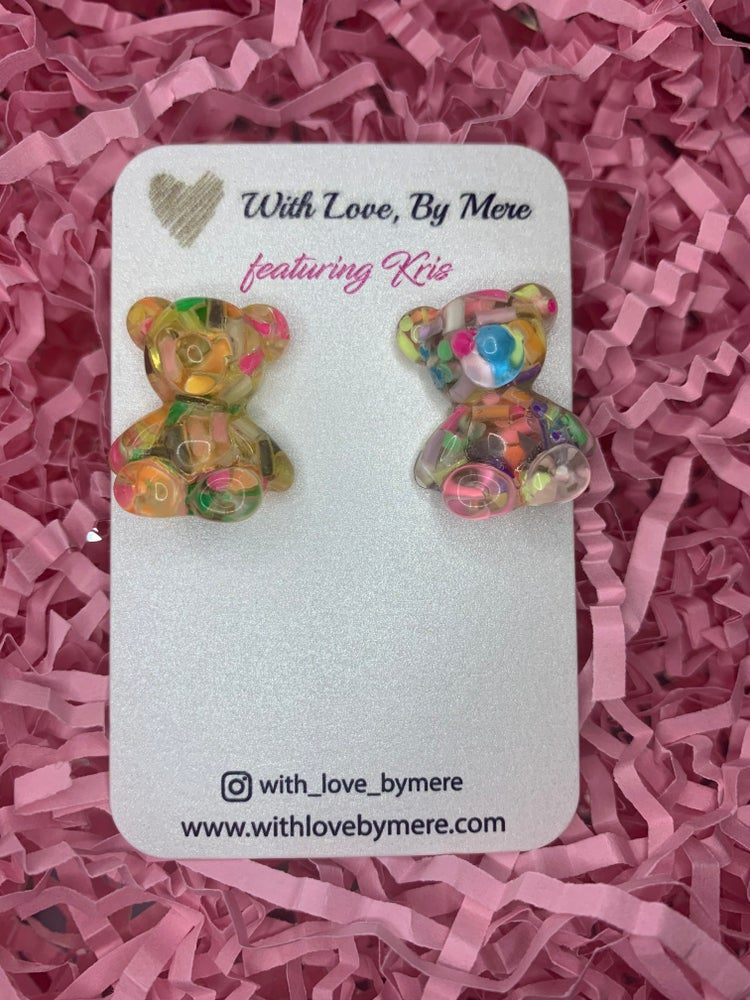 Image of Kids Colorful Gummy Bear Earring