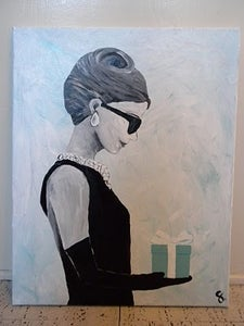 Image of Audrey Hepburn and Tiffany & Co Painting