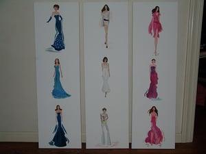 Image of Fashion Runway Models Painting