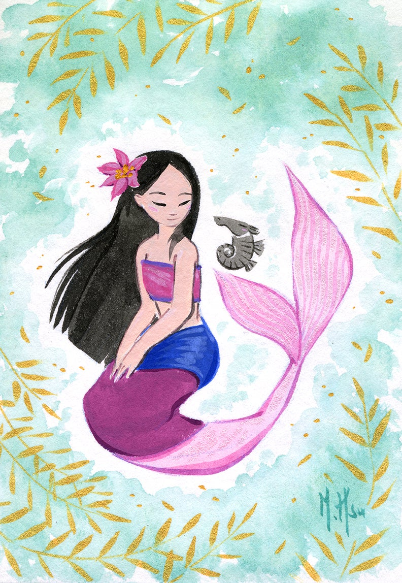 Mulan Mermaid- Still Prints
