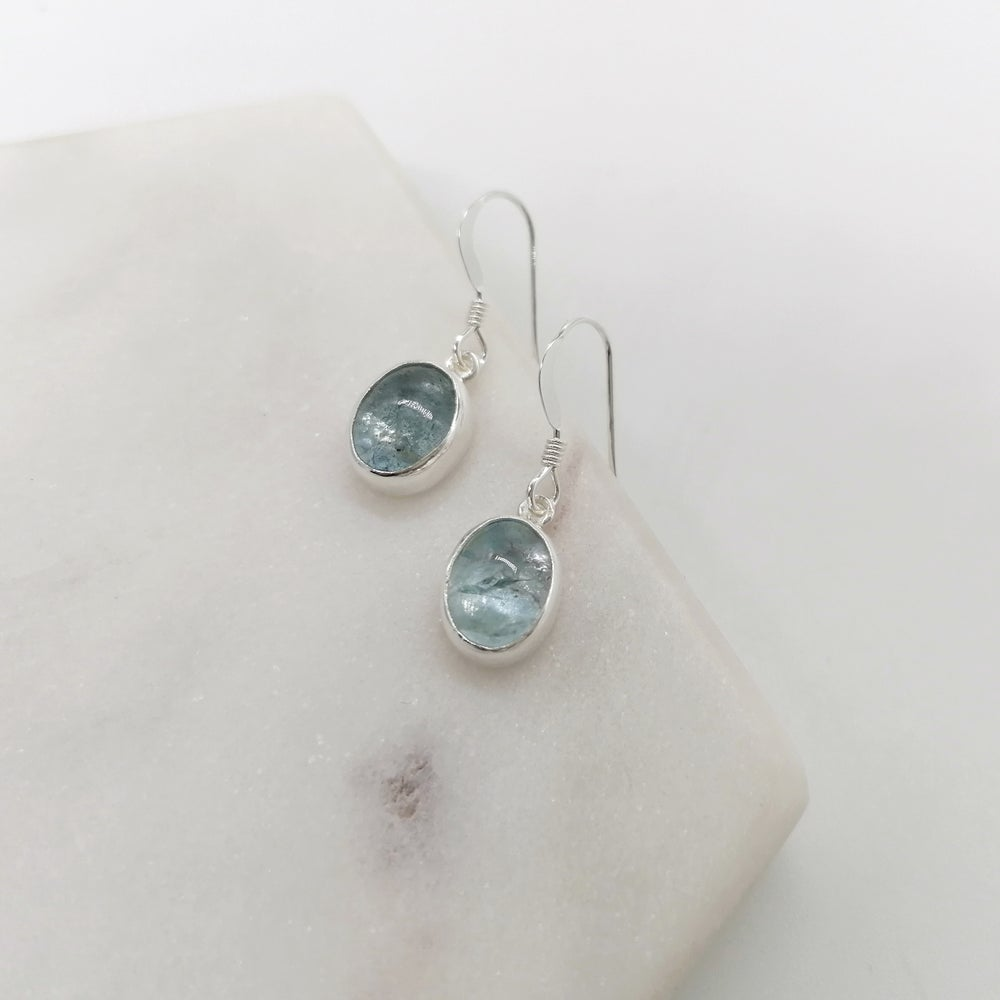 Image of Aquamarine Drop Earrings