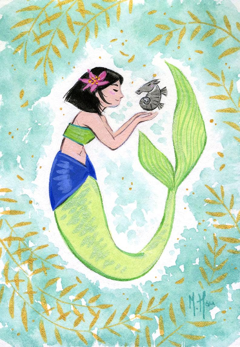 Mulan Mermaid- Splash Prints
