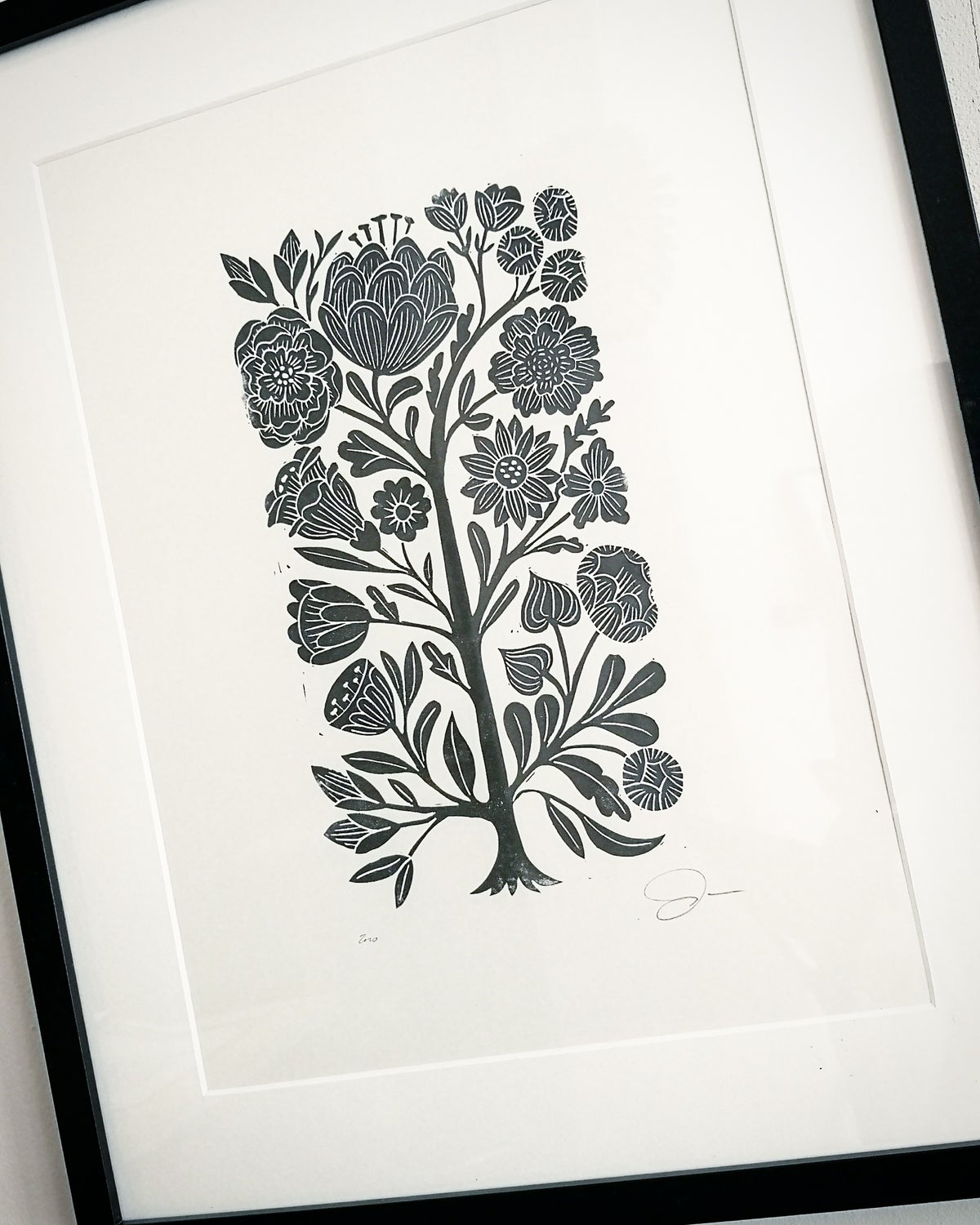 Image of Hand-printed Floral