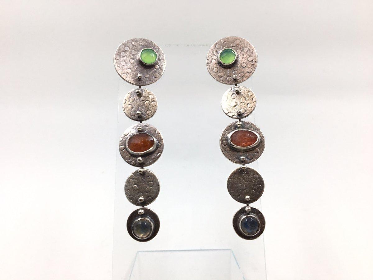 Multi-Stone Drop Earrings by Lisa Colby