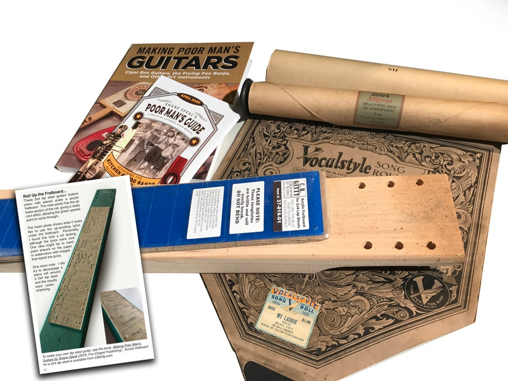 Image of FLASH SALE - Piano Roll 2x4 Lap Steel Pack & AUTOGRAPHED BOOK