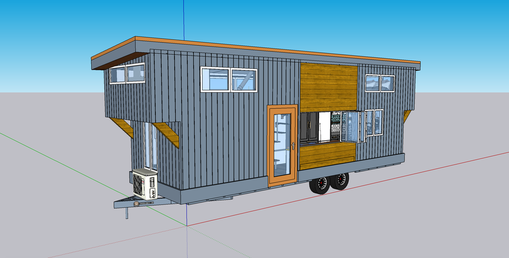 Image of SketchUp File of 28ft Entertaining Abode
