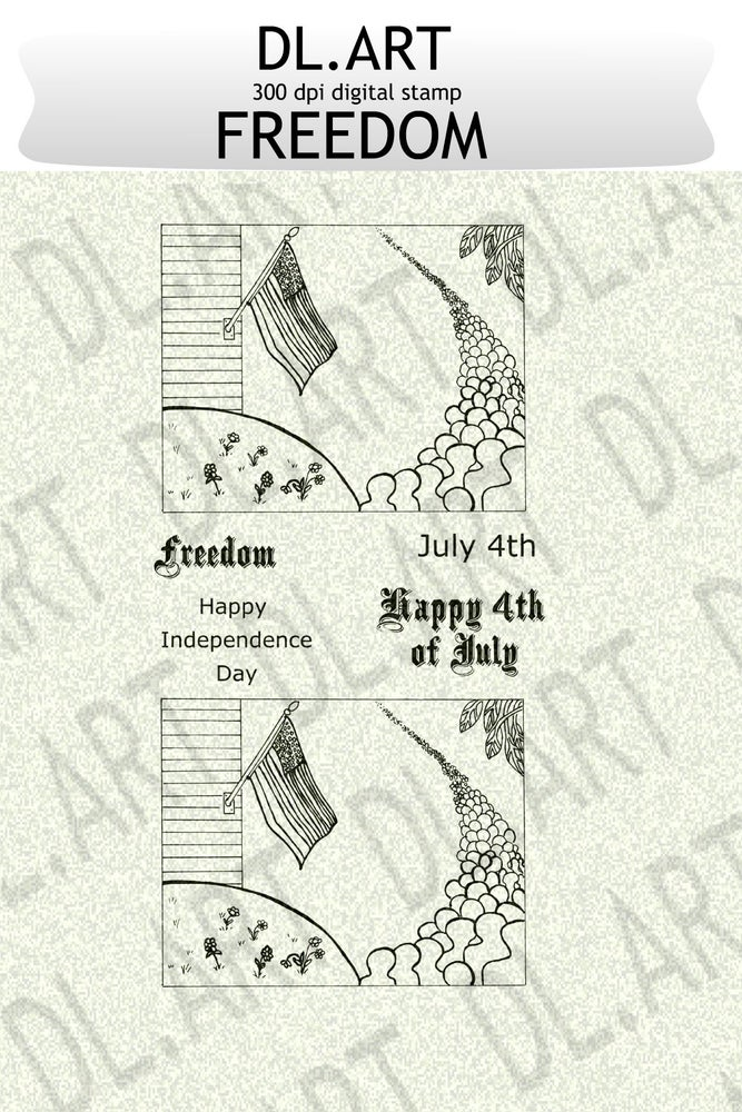 Image of DL.ART Digital Stamp Freedom