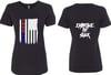 Iron Den Flag Shirt Womens -Black