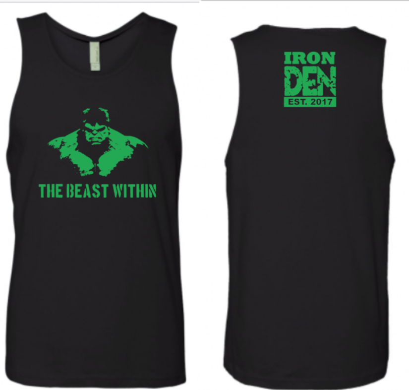 The Beast Within Tank Mens -Black