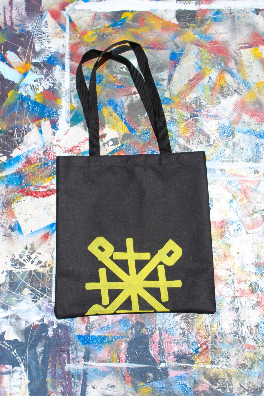 bag up tote bag in black