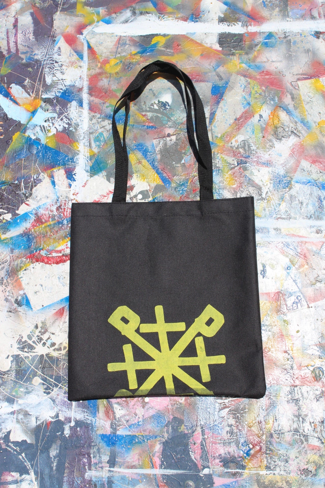 Image of bag up tote bag in black