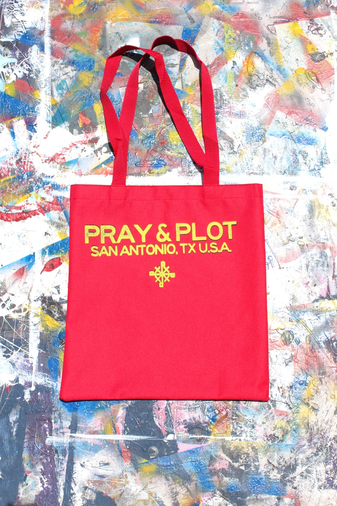 Image of ready to go tote bag in red
