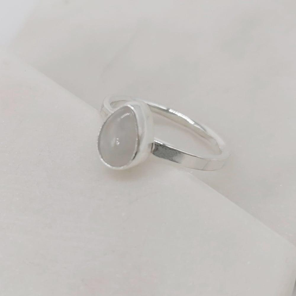 Image of Moonstone Teardrop Ring