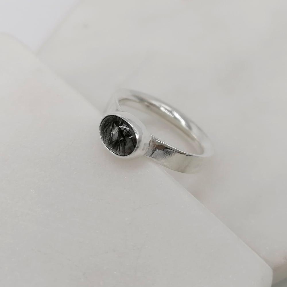 Image of Tourmalated Quartz Ring