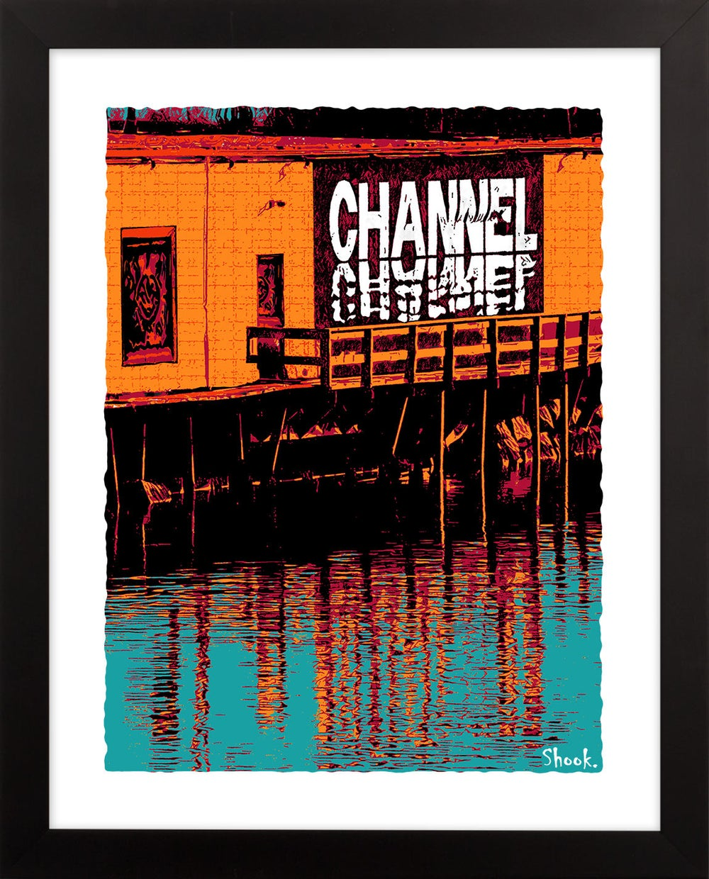 "The Channel Boston Giclée Art Print - 11"" x 14"""
