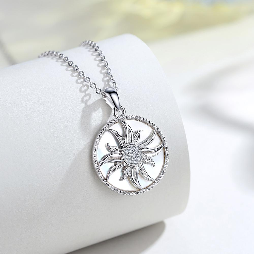 Sunflower Necklace (925 Sterling Silver)