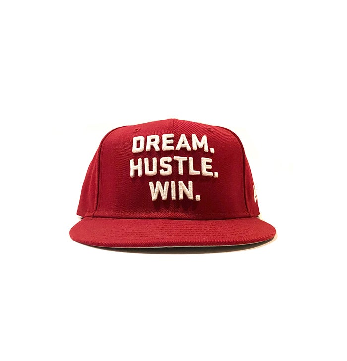 Image of 2520 X NEW ERA DREAM. HUSTLE. WIN. 9FIFTY SNAPBACK - CARDINAL