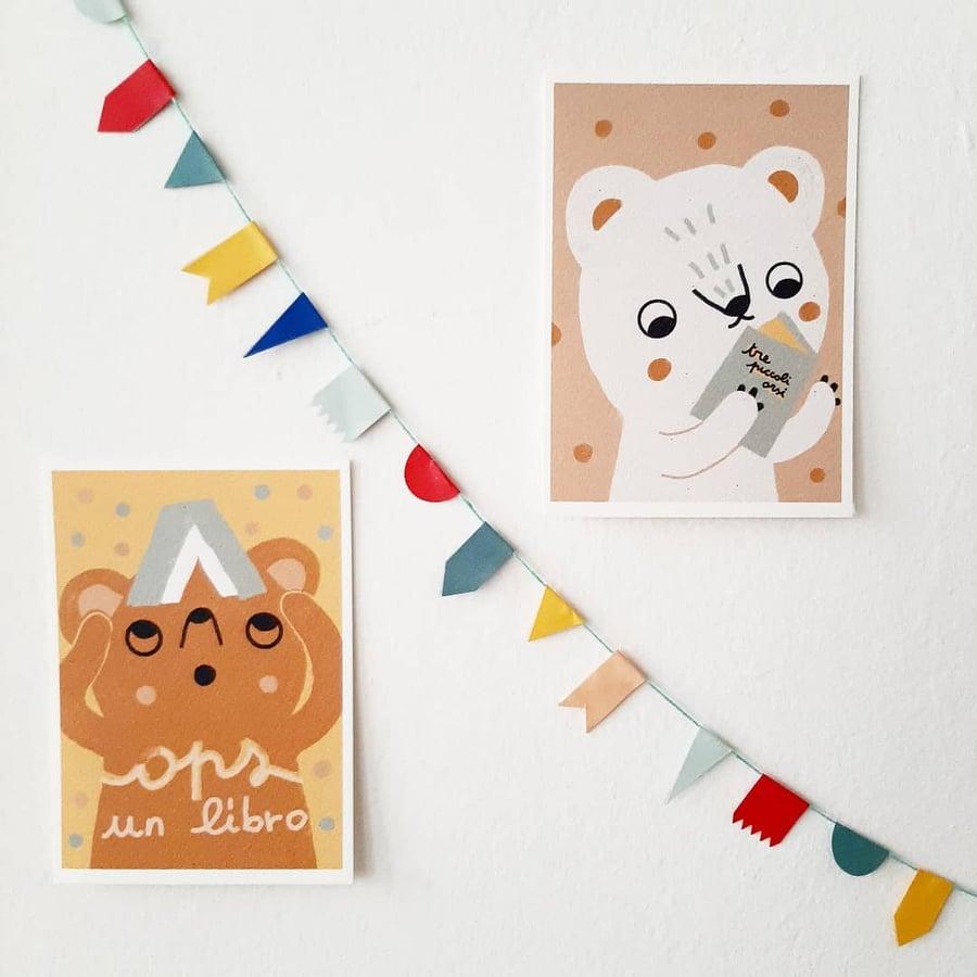 Image of Piccoli orsi - due cartoline in formato A6