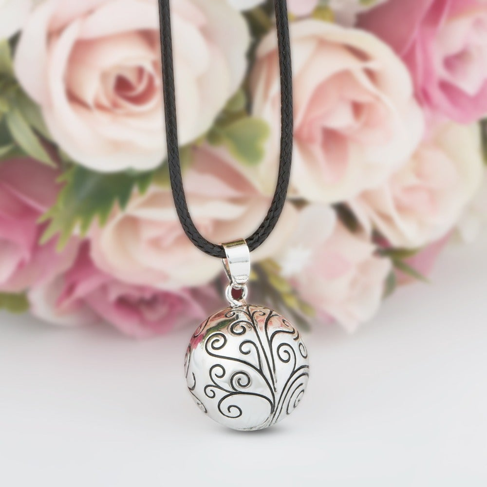 Green Olive + Tree Of Life Harmony Ball Necklaces