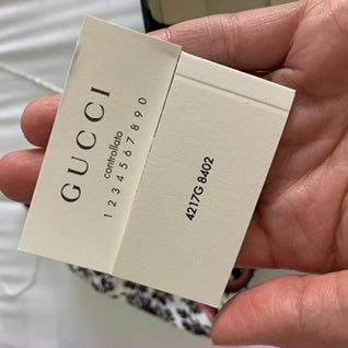 Image of New In Box Authentic Gucci .925 sterling Sqaure pendant necklace