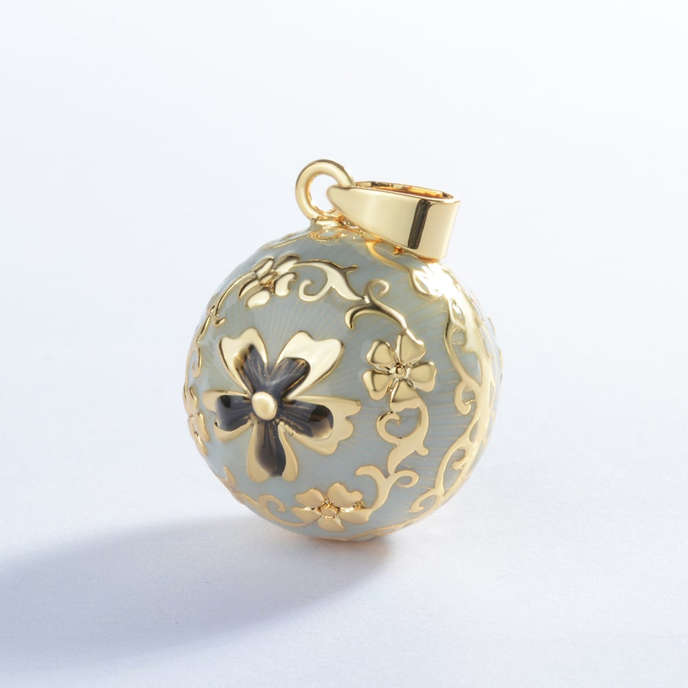 Gold Flower Harmony Ball Necklace