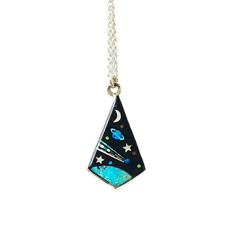 Image of Small Galaxy Inlay Necklace