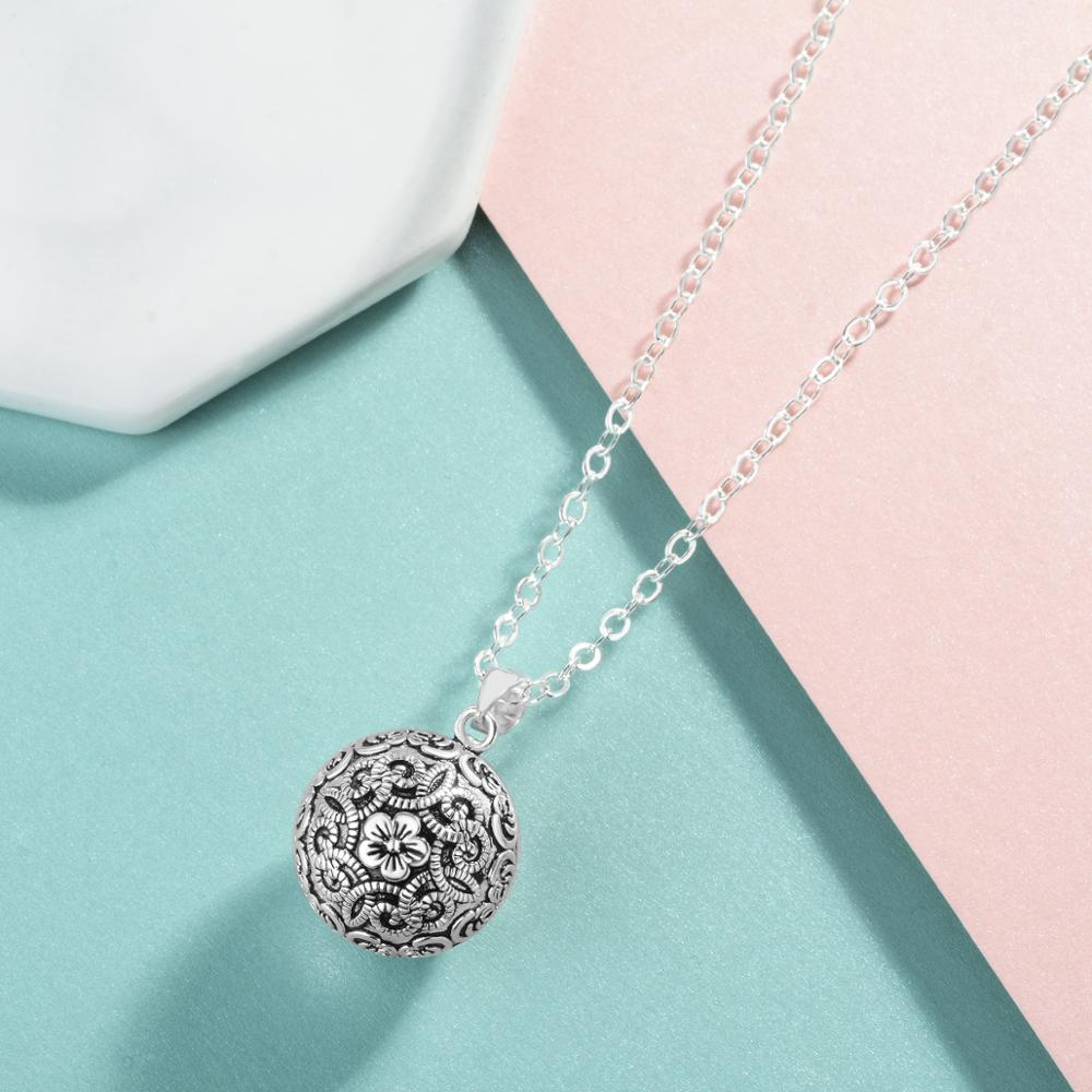Silver Luxury Vintage Harmony Ball Necklace