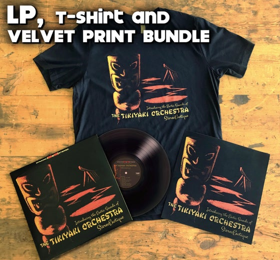 "Image of OFFICIAL - TIKIYAKI ORCHESTRA - ""STEREOEXOTIQUE"" LP / VELVET PRINT / SHIRT BUNDLE"