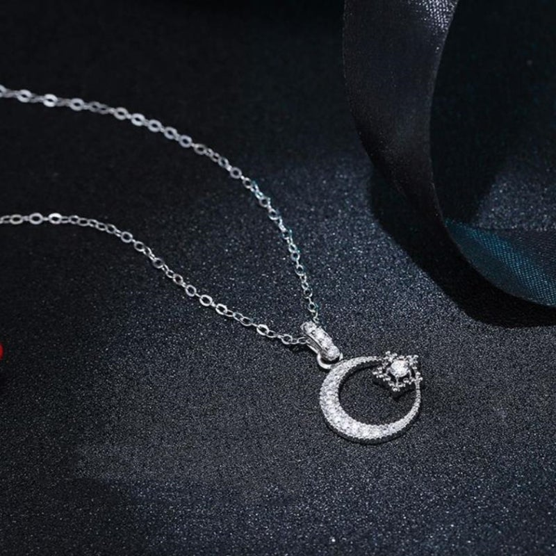 Simple Moon/Star Necklace