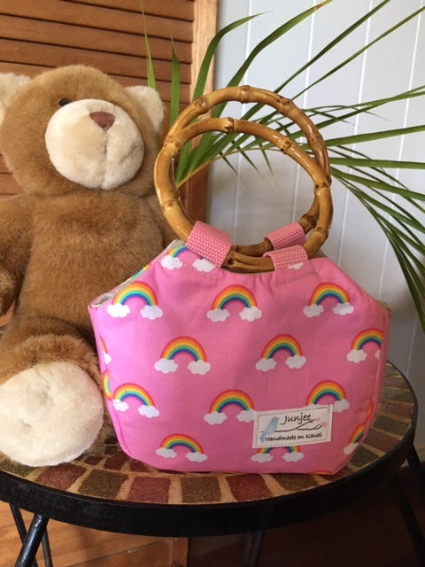 Keiki Bag Rainbow with Bamboo Handle