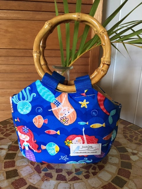 Keiki Bag Mermaid with Bamboo Handle
