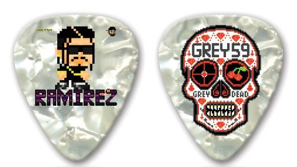Image of Ramirez (Limited Edition) Sugar Skull Double-Sided Guitar Pick.
