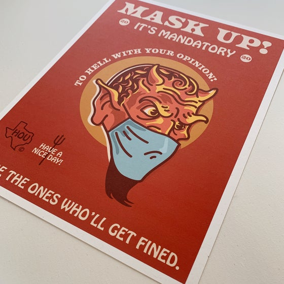 Image of MASK UP! TO HELL - DIGITAL PRINT