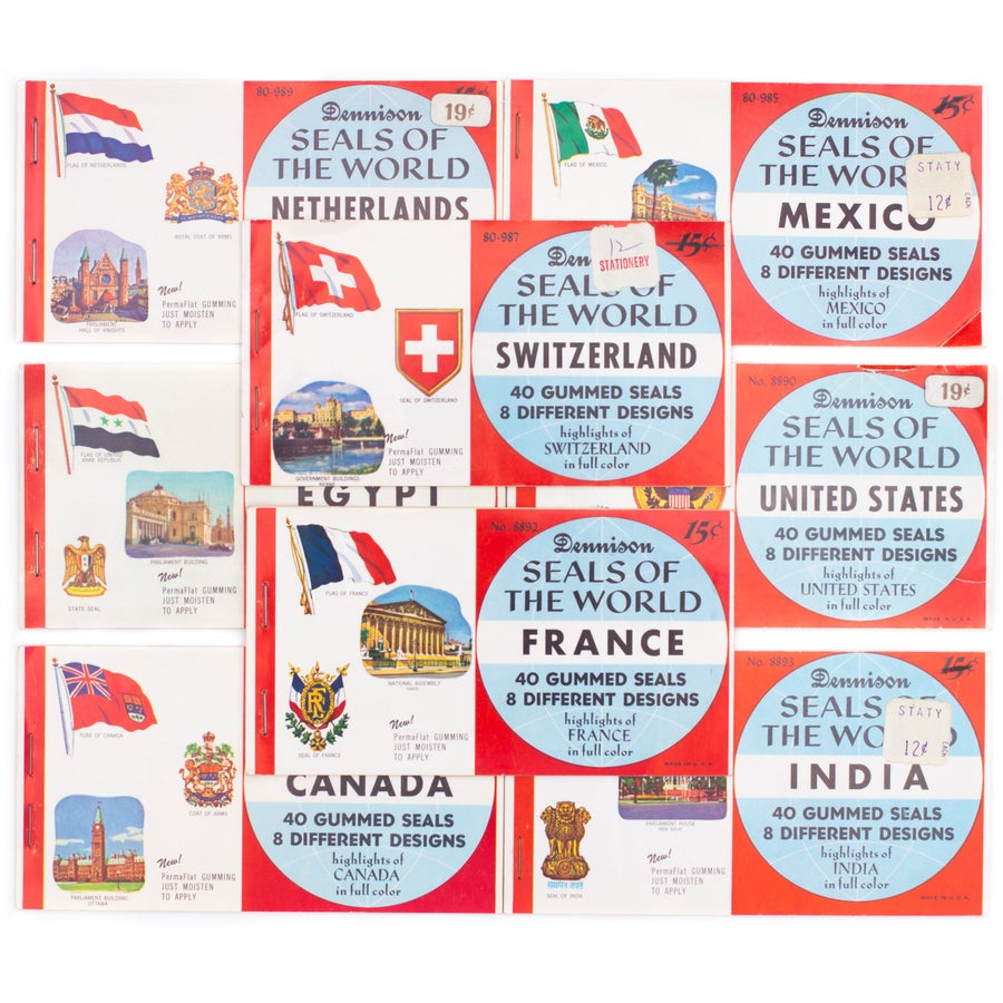 """Image of Dennison """"Seals of the World"""" Booklet - Choose Your Country!"""