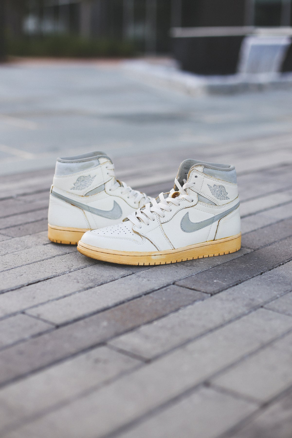 "Image of Jordan 1 sail ""85 natural grey"" inspired"