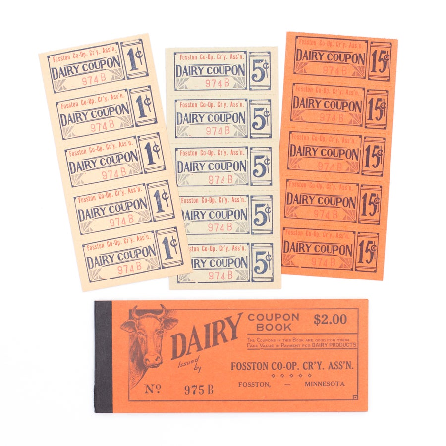 Image of 1950's Dairy Coupon Booklet - Orange, Yellow, Green