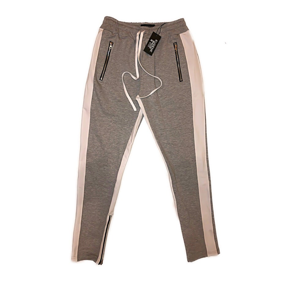 STRIPE JOGGERS (Grey)