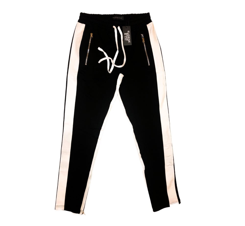 STRIPE JOGGERS (Black)