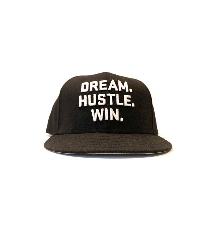Image of 2520 X NEW ERA DREAM. HUSTLE. WIN. 9FIFTY SNAPBACK - BLACK