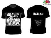 Image of GG ALLIN Hatred / Homer T-shirts