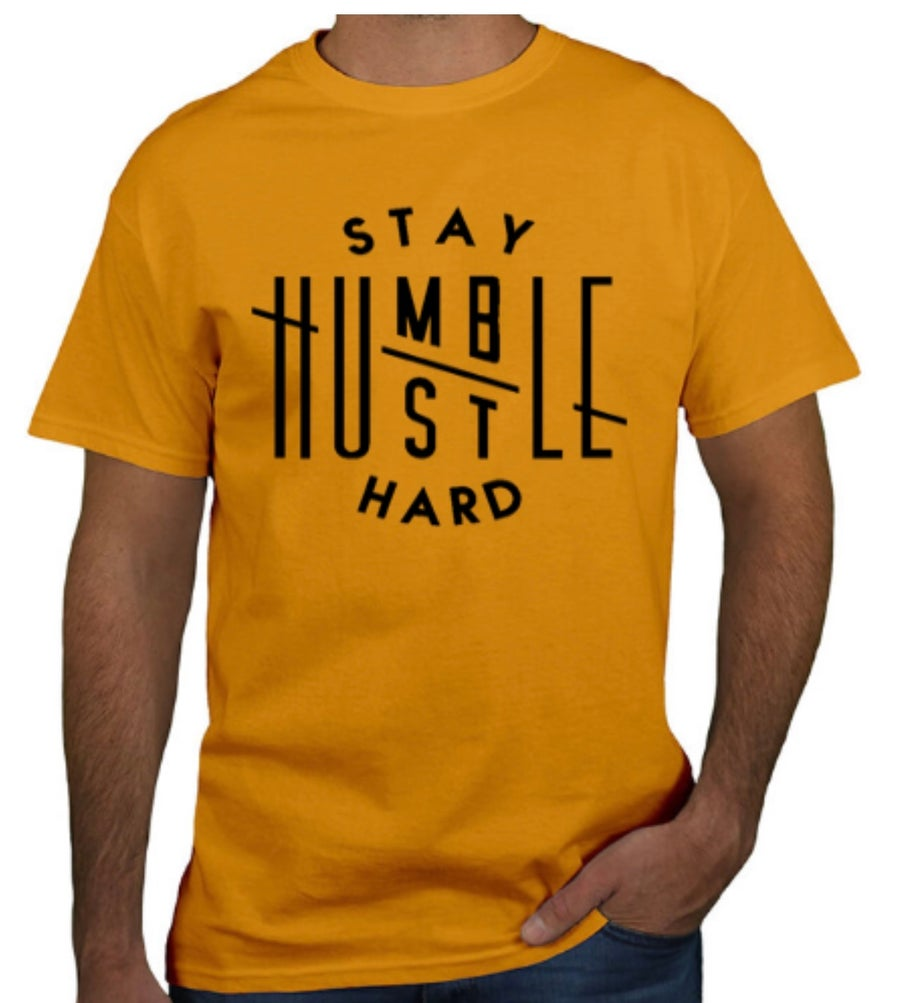 Image of Men's Stay Humble Tee ( YELLOW)