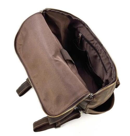 Image of Vintage Leather Backpack, Travel Backpack, Laptop Rucksack LF260