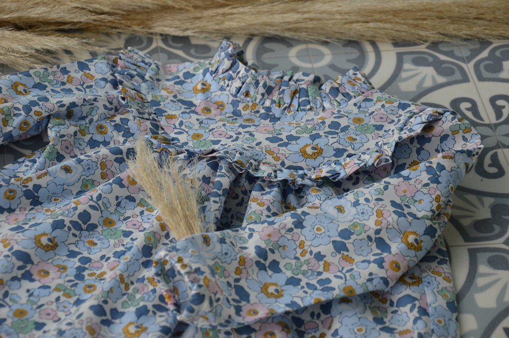 Image of Blouse col montant betsy denim