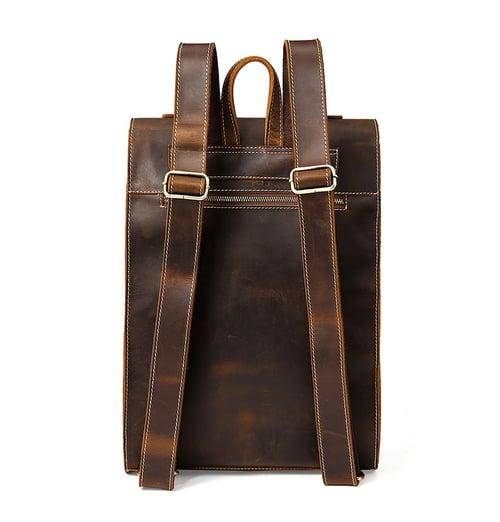 Image of Genuine Leather Travel Backpack Men Leather Backpack MSG8077