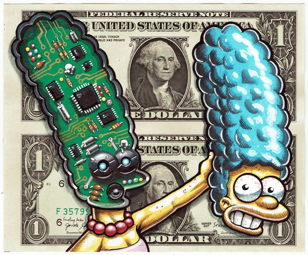 Image of Uncut Dollar Original. Stepford Marge.