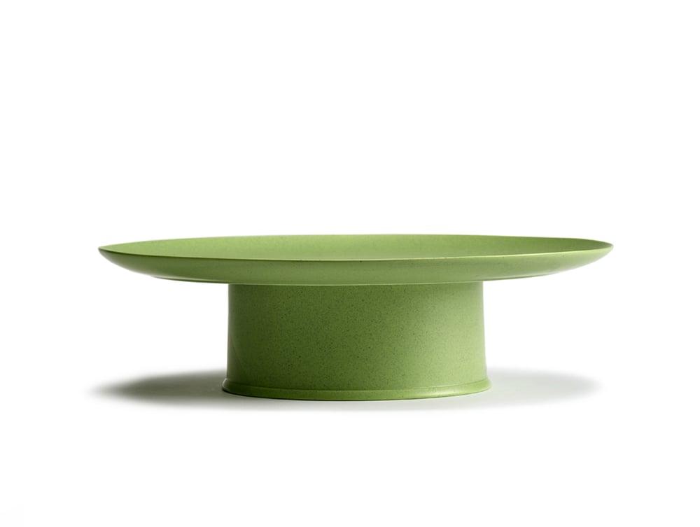 Image of Kuchenplatte/Obstschale grün