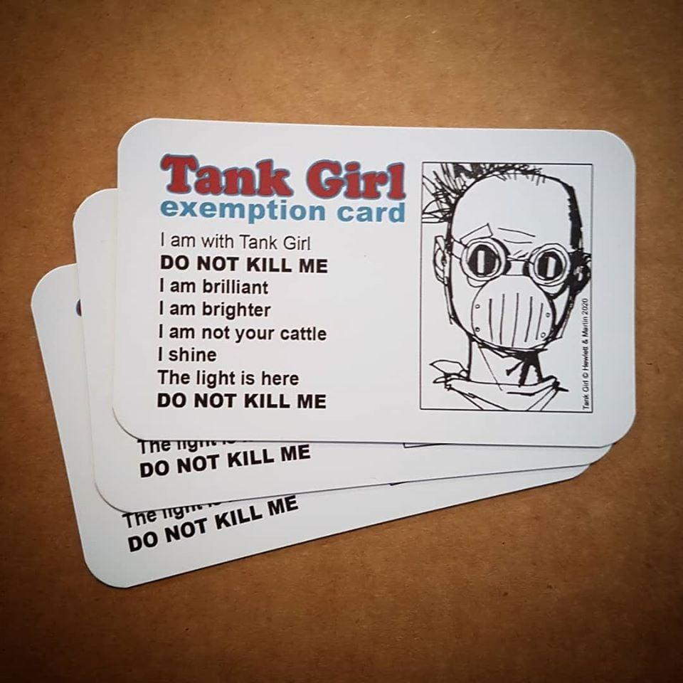 Image of TANK GIRL POSTER MAGAZINE #14 - with Tank Girl Shut Down Badge